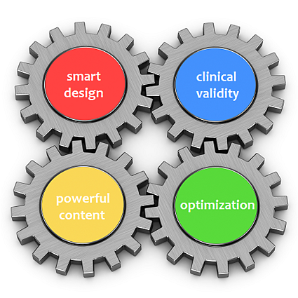 four_gears_showing_4_traits for the best medical blog posts