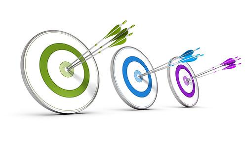 multiple bullseyes for multiple marketing efforts to best target potential patients
