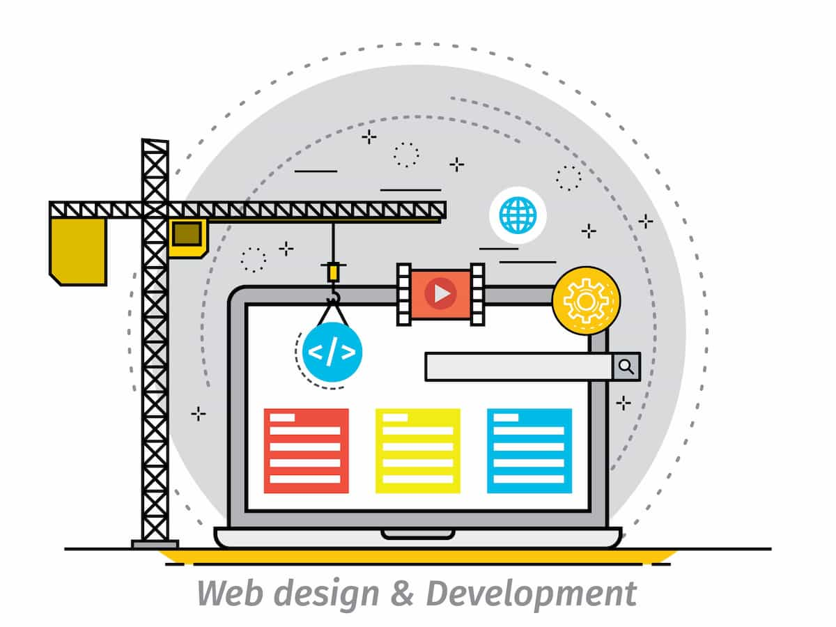 Web design includes the way the text and images come together in a blog post